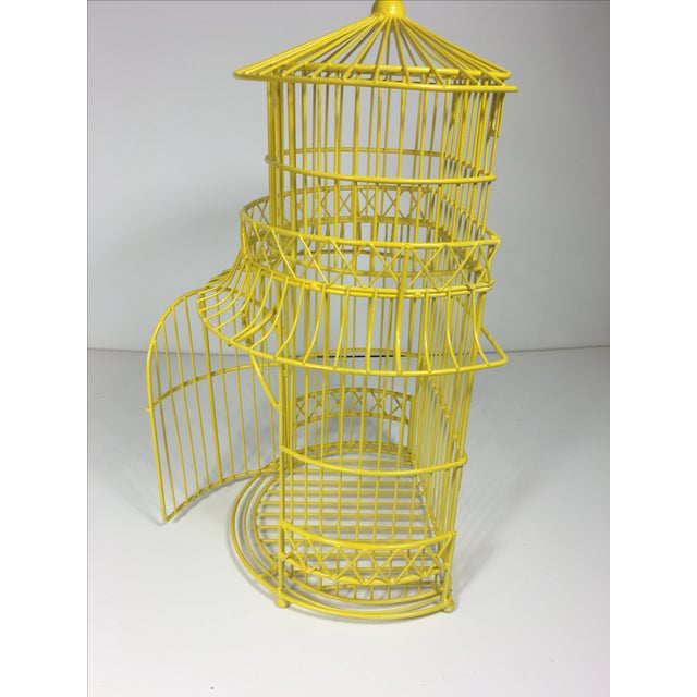 Canary Yellow Chinoiserie Birdcage - Image 4 of 7
