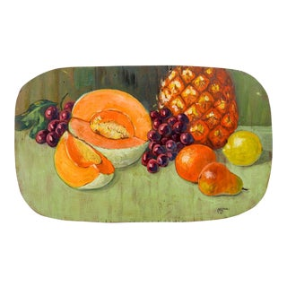 Fruit Still Life Painting, 1960s For Sale