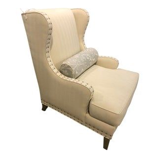 Transitional Wing Chair For Sale