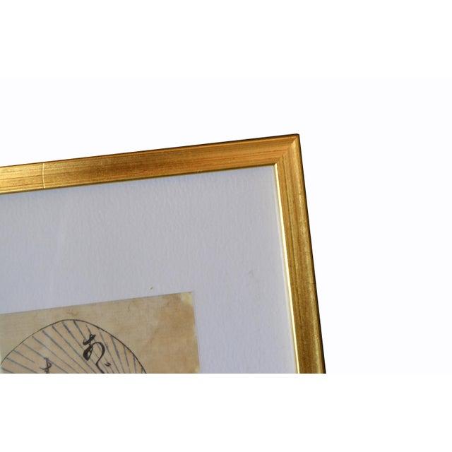 Utagawa Toyokuni II Geisha Japanese Gilt Framed Woodblock Print on Parchment Paper For Sale - Image 9 of 13