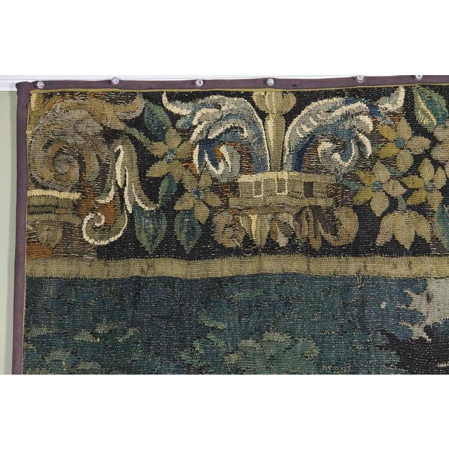 Textile Flemish Verdure Tapestry For Sale - Image 7 of 10