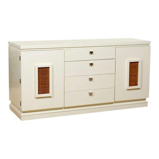 Exceptional Modern Buffet/Credenza by American of Martinsville in Cream Lacquer For Sale