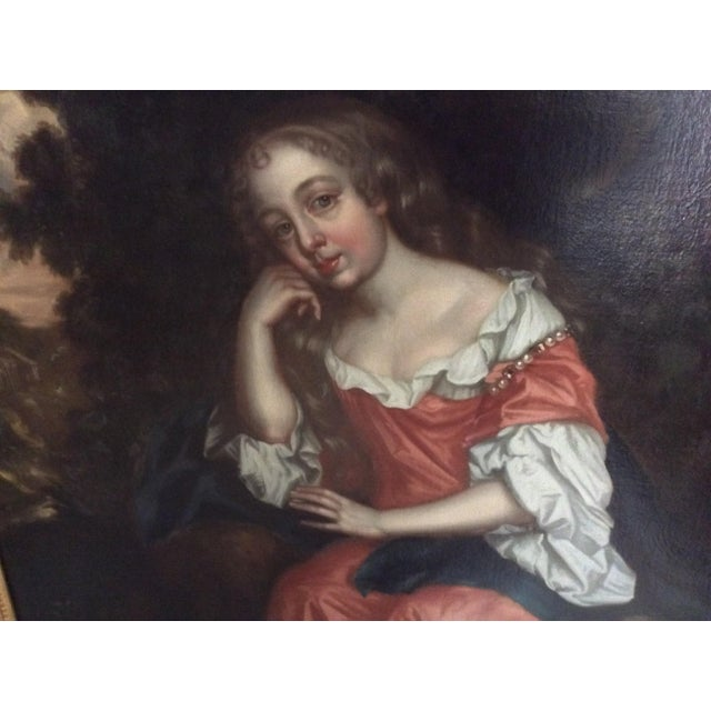 Late 18th Century Antique Painting of a Young Woman For Sale - Image 5 of 11