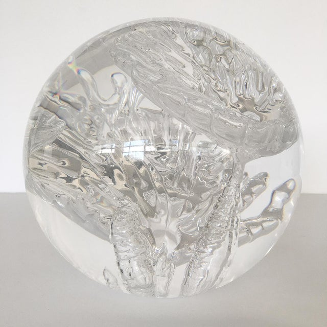 Suspended Bubble Inclusion Lucite Sphere Sculpture - Image 3 of 6