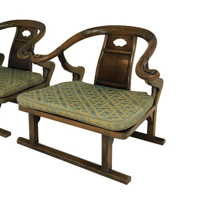 """Mid-Century Modern Mid Century Michael Taylor for Baker """"Far East"""" Lounge Chairs - A Pair For Sale - Image 3 of 9"""
