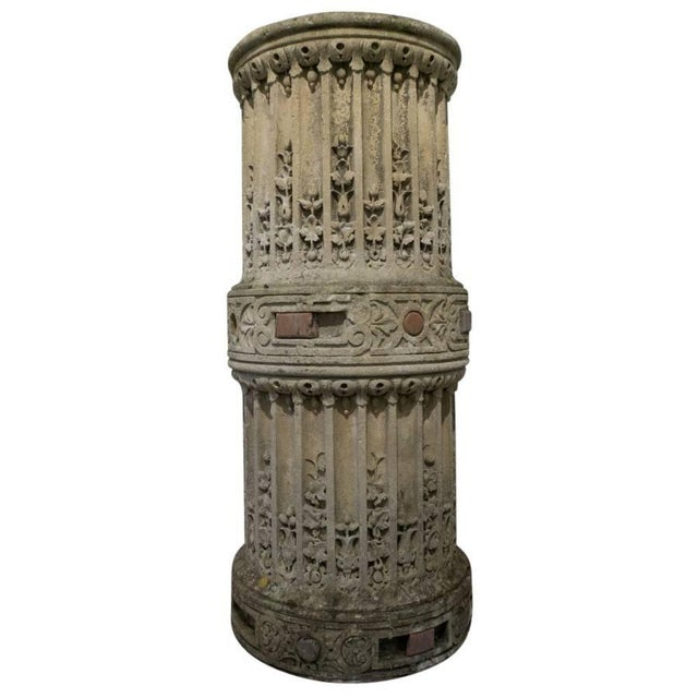 Mid 19th Century Sculpted Stone Column From the Chateau De Mouchy For Sale - Image 5 of 6