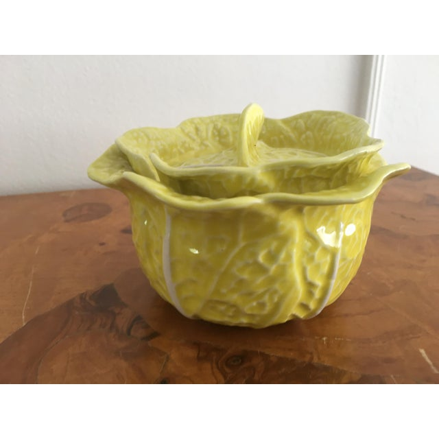 Vintage Secla Yellow Cabbage Bowls- Set of 3 For Sale In New York - Image 6 of 12