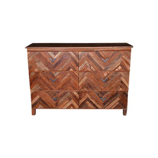 Rustic Tanner 6-Drawer Chest For Sale