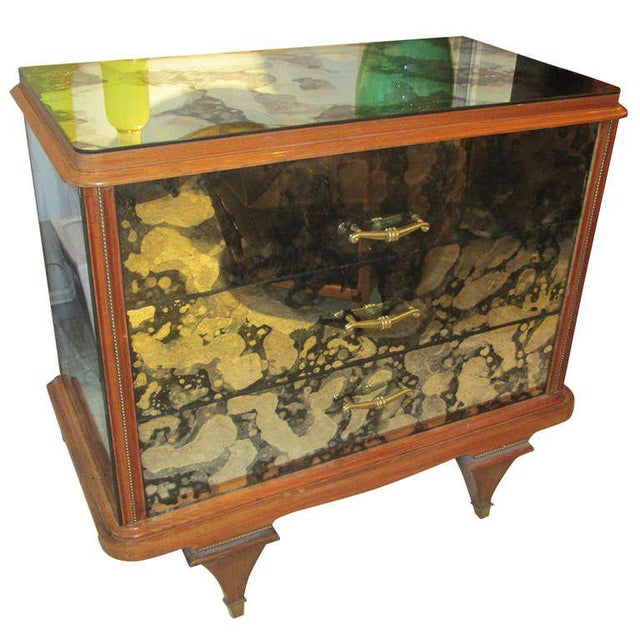 Whimsical Italian Mirrored Chest of Drawers For Sale - Image 9 of 9