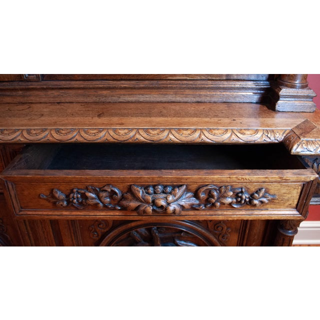 Carved French Oak Cabinet For Sale - Image 4 of 13