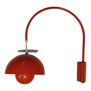 1960s Verner Panton Flowerpot Wall Mounted Lamp for Louis Poulsen Denmark For Sale