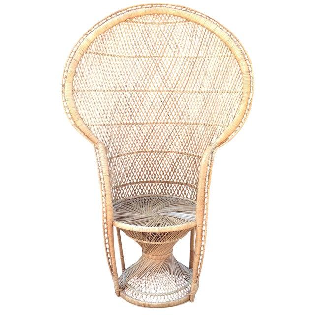Vintage Rattan Peacock Chair - Image 1 of 9