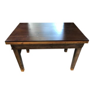 Mid-Century Modern Walnut Top Zinc & Brass Desk For Sale