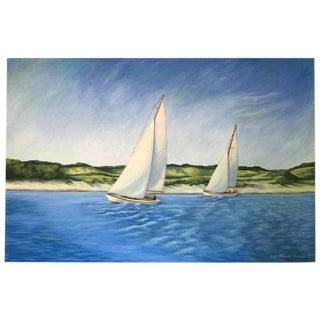 June Parrish Cookson Original Waterscape Painting For Sale