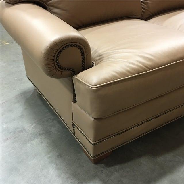 Leathercraft Tan Leather Sofa - Image 4 of 6