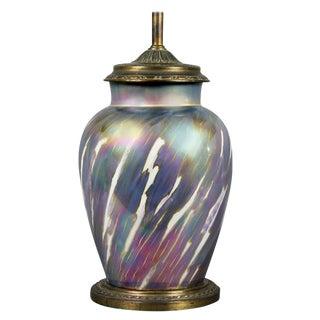 French Art Nouveau Porcelain Table Lamp For Sale