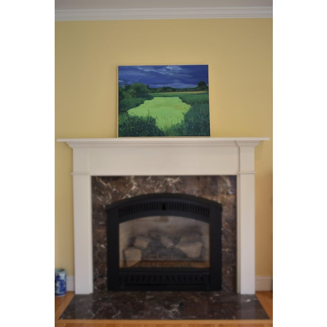 """""""Glowing Green ~ Algae Covered Pond"""" Painting For Sale - Image 11 of 13"""