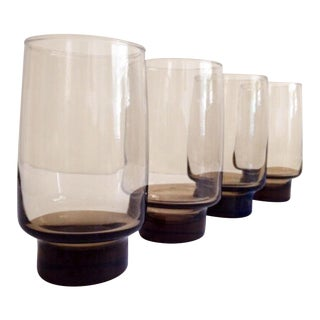 Libbey Glass Co. Tawny Accent Flat Tumblers - Set of 4