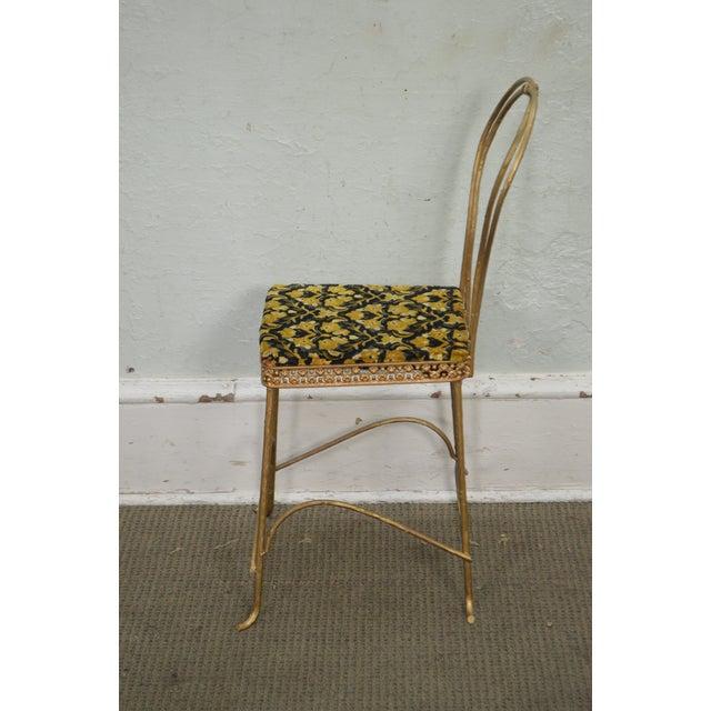 Renaissance Antique Gilt Metal Faux Bois Aesthetic Side Chair For Sale - Image 3 of 11