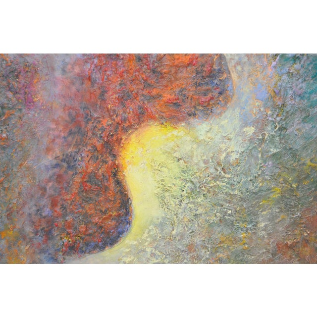 Vintage 1970s Abstract Painting For Sale - Image 4 of 5