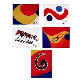 Alexander Calder Flying Colors Collection (5 artworks) 1974 For Sale