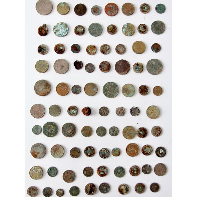 Blue Vintage Oxidized Coin Collection For Sale - Image 8 of 11