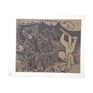 """Vintage Mid 20th C. Ltd. Ed. Picasso Lithograph-""""Danseurs Et Musicien"""" For Sale"""