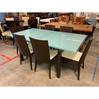 Caligaris Butterfly Wenge Extension Table + Six Leather Chairs Preview