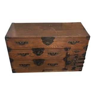 1970s Vintage Japansese Tansu Chest For Sale