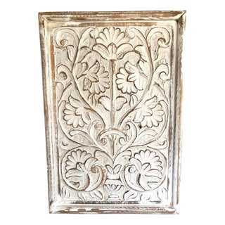 Indonesian Hand Carved Wooden Wall Sculpture For Sale