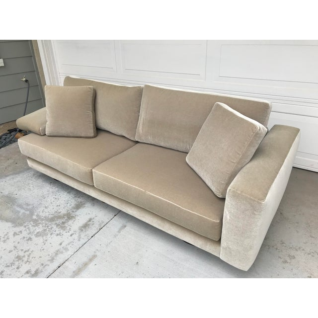 Early 21st Century Mauro Lipparini for Saporiti Italia Mohair Sofa For Sale - Image 5 of 10