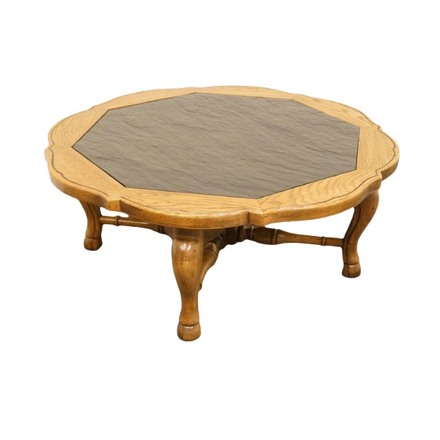 """Thomasville Furniture Chateau Provence Collection 42"""" Slate Top Coffee Table For Sale"""