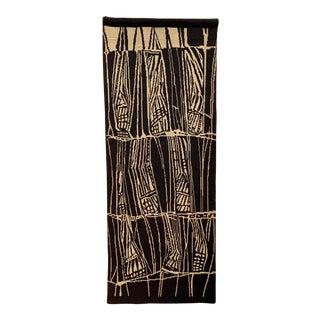 1960s Vintage Suomen Käsityön Ystävät Finland Scandinavian Modern Finnish Hand Woven Tapestry Weaving