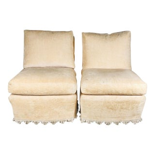 Pair of Vintage Michael Taylor Slipper Chairs For Sale