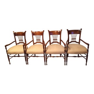 Baker Milling Road Spindle-Back Armchairs - Set of 4 For Sale