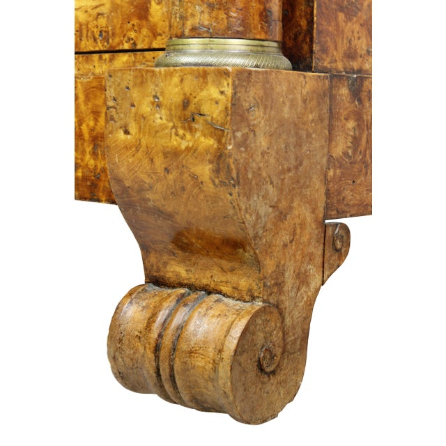 Charles X Burl Elm Commode For Sale - Image 11 of 13
