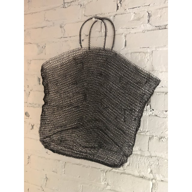 Late 20th Century Wire Art Bag For Sale - Image 5 of 10