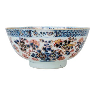 1770 Dutch-Decorated Chinese Export Imari Porcelain Bowl For Sale