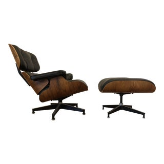 Eames Herman Miller 670-671 Chair & Ottoman 1980's For Sale