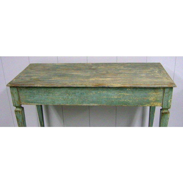 Italian Italian Tall Painted Wood Console or Serving Table For Sale - Image 3 of 6