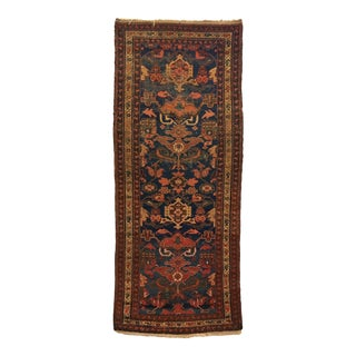 Late 19th Century Antique Persian Bakhtiari Runner-3′4″ × 8′ For Sale