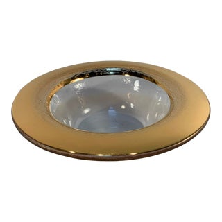 Vitnage Annieglass Roman Bowl With Wide Gold Rim For Sale