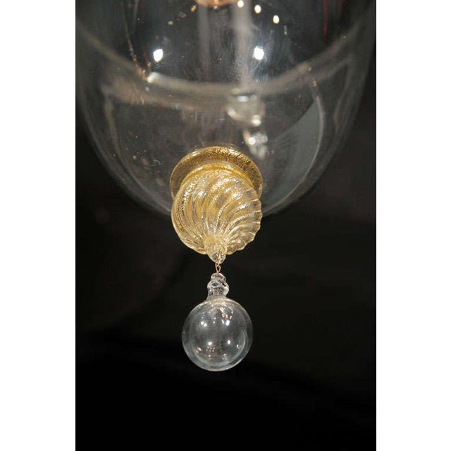 Transparent Murano Glass Lantern For Sale - Image 8 of 10