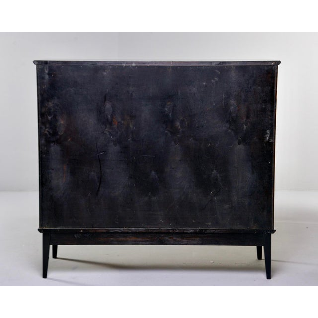 Mid Century Swedish Ebonized Two-Door Cabinet With New Brass Hardware For Sale - Image 10 of 11