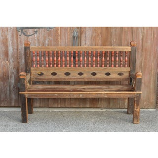 Rustic and Robust Architectural Spindle Teak Bench Preview