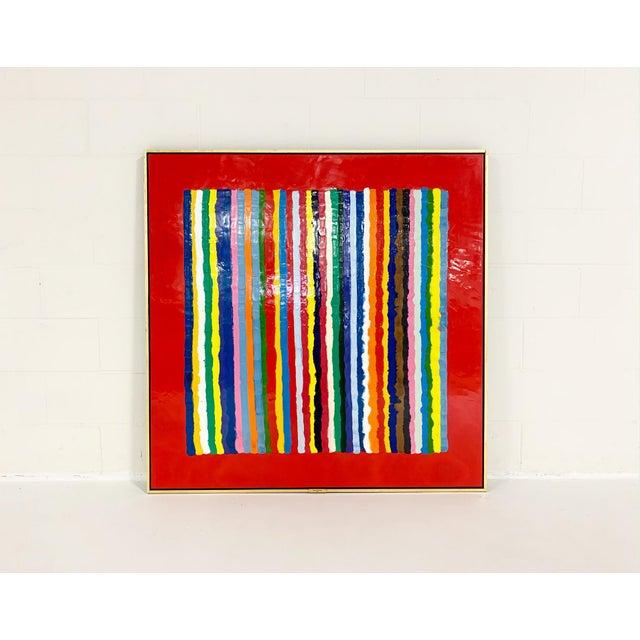 Encaustic John O'Hara. Sardinia, Red. Encaustic Painting For Sale - Image 7 of 7