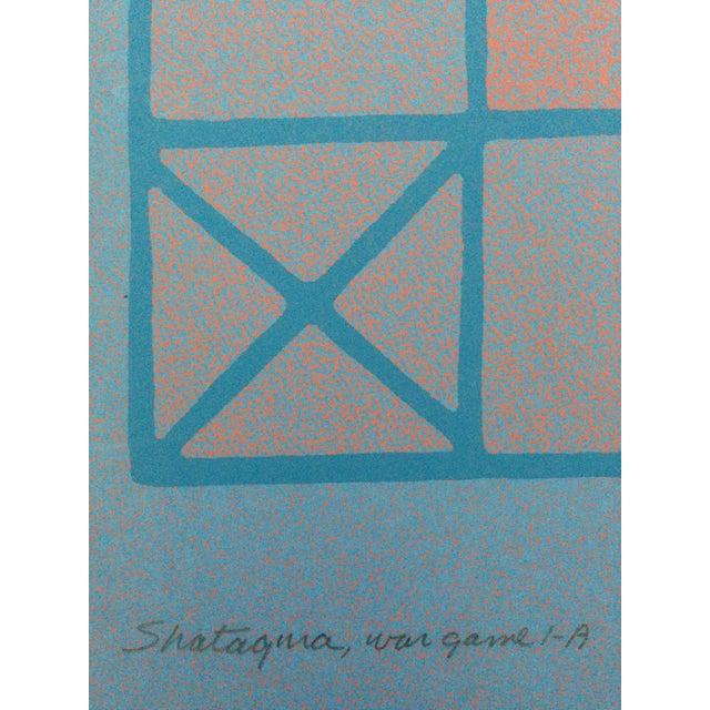 Blue 1973 Op-Art Silkscreen Signed Bay Area Artist For Sale - Image 8 of 10