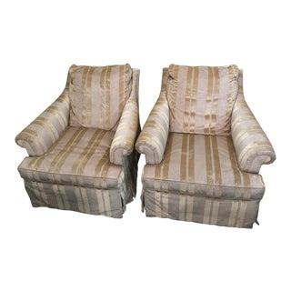 A Rudin Upholstered Lounge Chairs- a Pair For Sale