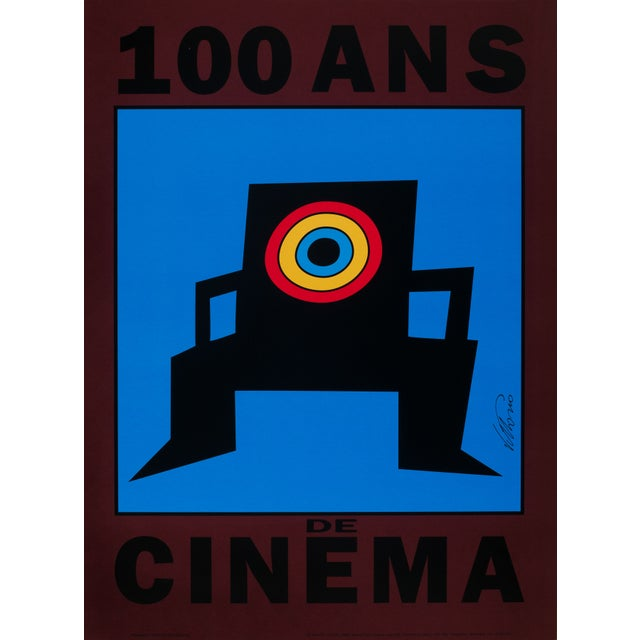 Art Poster - 100 Ans de Cinema - Vittorio, 1992 For Sale