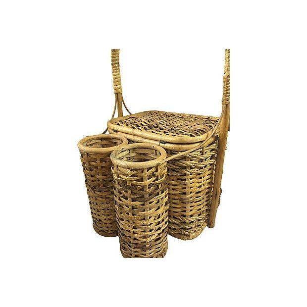 Wicker Picnic Basket with Bottle Carrier - Image 2 of 3